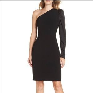Eliza J One Sleeve Sheeth Dress
